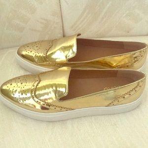 Franco Sarto Nelson Gold Slip-On Sneakers